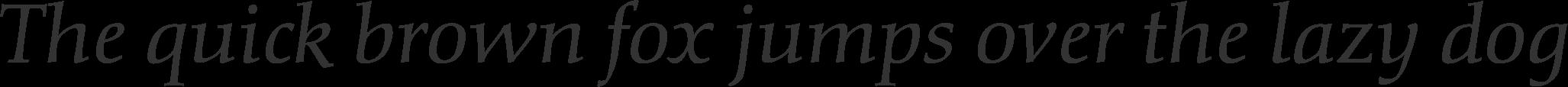 Diotima Classic LT Pro Regular italic